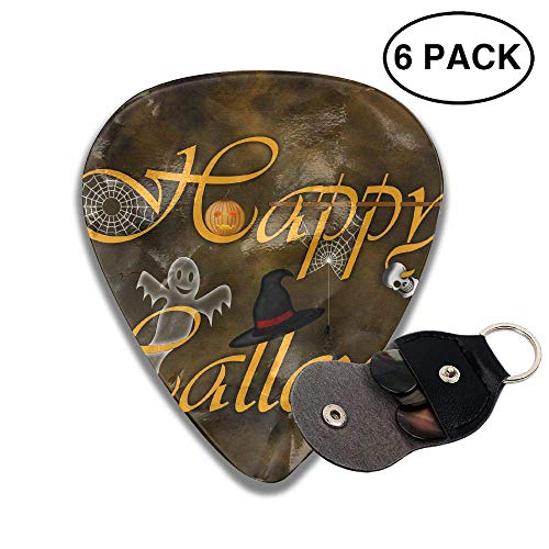 gahjdfxiaoning Happy Halloween 2018 351 Rock Electric Acoustic Guitar Pick Accessories White.96mm