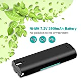 Creabest New 2 Packs 7.2V 3500mAh Ni-MH Replacement Battery Compatible with Makita 7000 7002 7033 191679-9 192532-2 192695-4 632002-4 632003-2 7.2V Rechargeable Replacement Battery