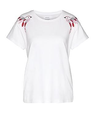 66c1e1592ec8fd armedangels Damen T-Shirt aus Bio-Baumwolle - NELA Twin Birds - XS White