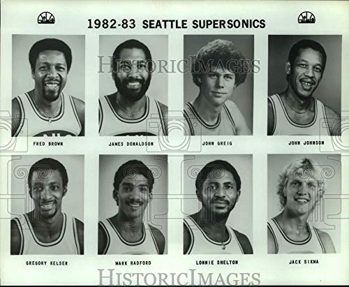 (1982 Press Photo Seattle SuperSonics basketball mug shots - sas17828 )