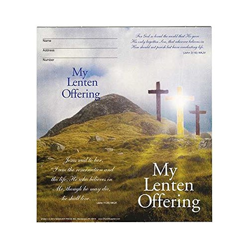 Sterling Gifts Crosses Coin Semi-Dated Lent Quarter Folders for Church Fundraising Holds $10.00 (Pkg of 50)