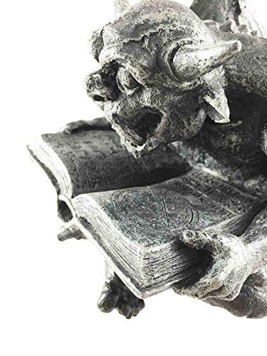 Gothic Horned Spell Reading Gargoyle Ward Figurine Sculpture Scholar Bibliography Nerd