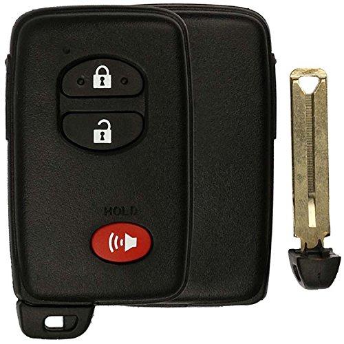 KeylessOption Keyless Entry Remote Smart Key Fob Shell Case for HYQ14AAB (Toyota Not Hybrid Highlander)