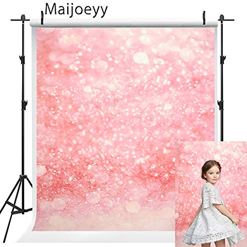 Maijoeyy 5x7ft Baby Shower Backdrop Bridal Photography Backdrop Birthday Party Pink Photo Backdrop for Photography Shining Newborn Children Photography Props Decorations ()