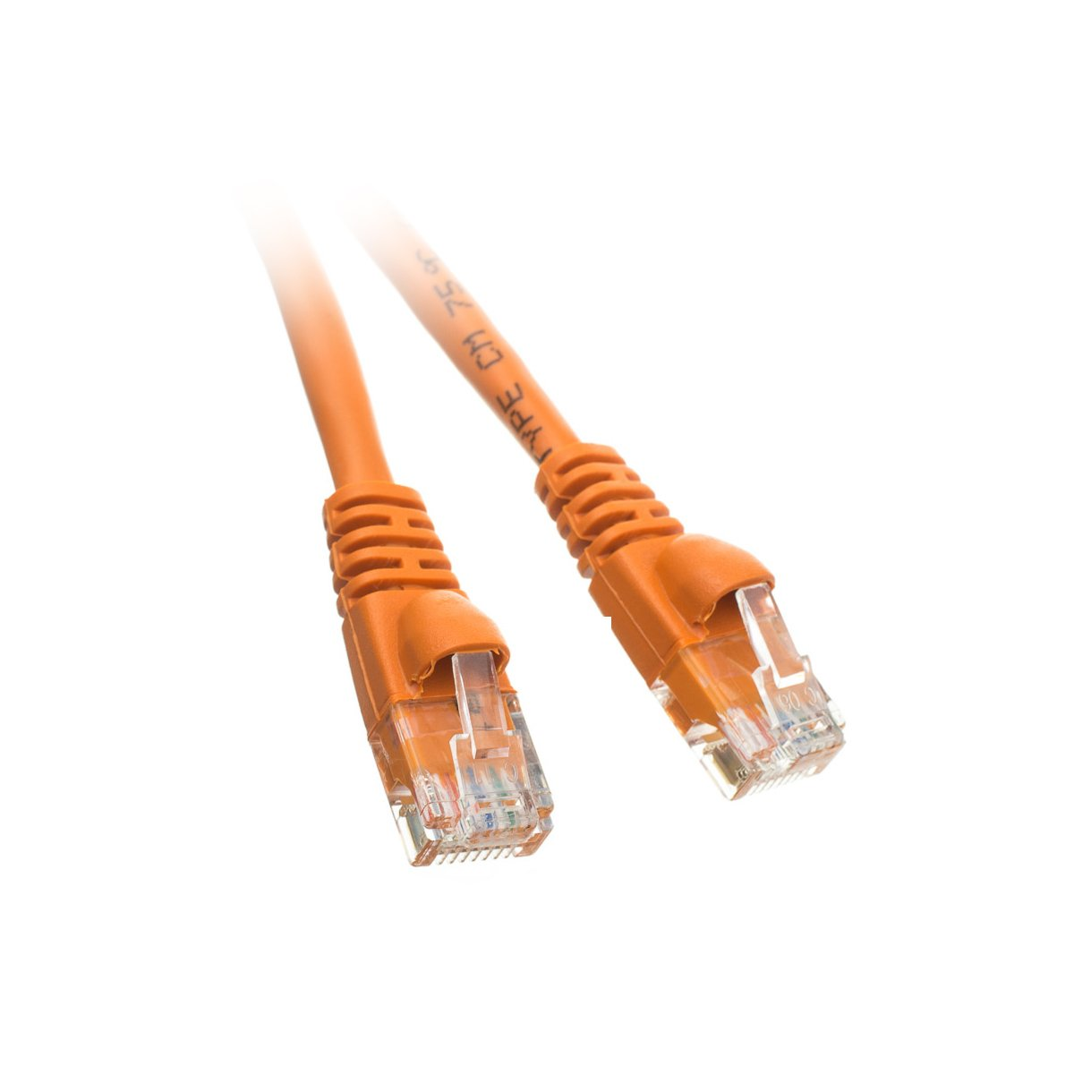 C&E 10-Feet Cat5e Snagless/Molded Boot Ethernet Patch Cable, 20-Pack - Orange (CNE48205) by C&E