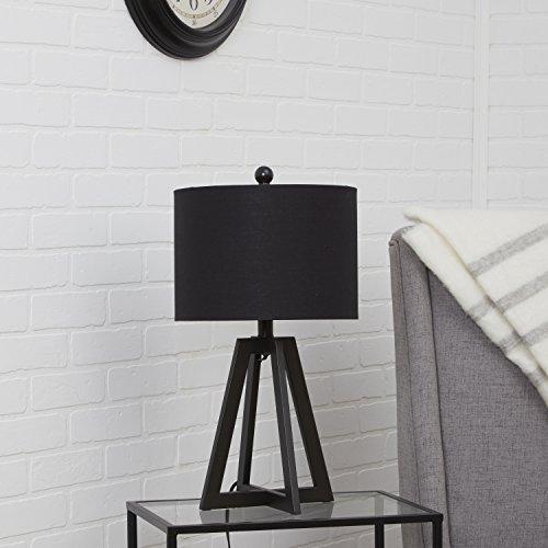 (Silverwood CPLT1542 Table Lamp, 12 L x 12W x 22.5 H in, Black)