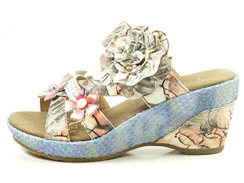 Laura Vita SL3036-5A Beaute 05 Schuhe Damen Sandalen Keil Pantoletten