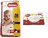 Diaper/Baby Wipe Travel Pack Bundle   Includes Huggies Snug & Dry Size 2 Disposable Diapers (38 Count) and Simply Clean Baby Wipes Resealable Container (32 Count)