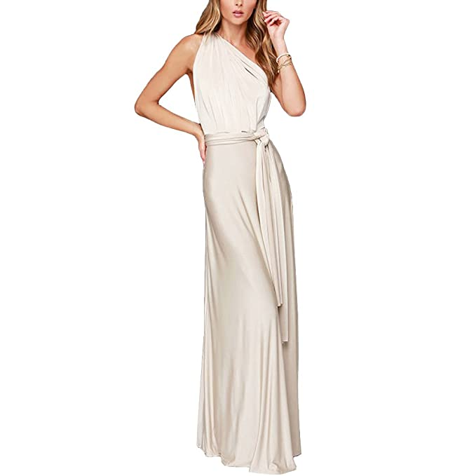 Amazon.com: Comeon Evening Dress Maxi Dress Multi-Way Wrap Halter ...