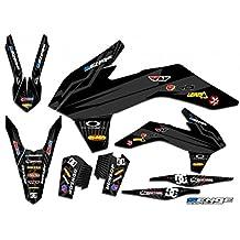 Senge Graphics Early 2001 KTM SX (Has the same plastics as the 2000 SX 250), Mayhem Black Graphics Kit