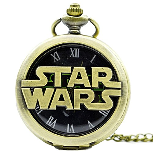 Imperial Bronze Finish Pendants - Star Wars Movie Title Bronze Finish Metal Pendant Pocket Watch
