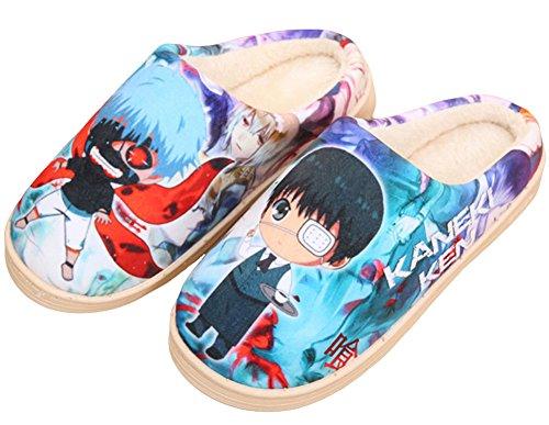 Gumstyle Giapponese Anime Stile Antiscivolo Pantofole Casa Inverno Peluche Caldo Scarpe Da Interno Tokyo Ghoul