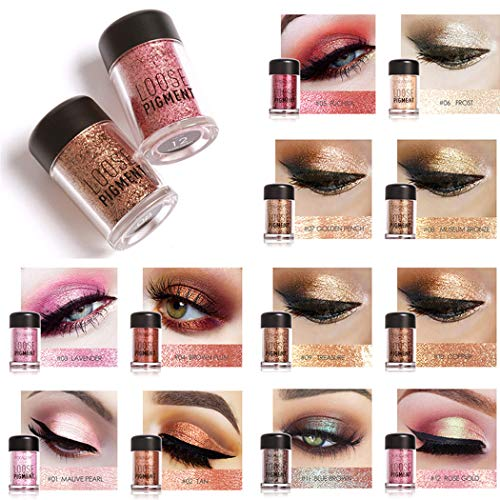 Cosmetics Eye shadow Color Makeup Pro Glitter Eyeshadow Palette 12 Colors (1PC)