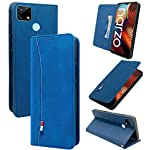 Jkobi Flip Cover for Realme Narzo 30A(Artificial Leather/Blue)
