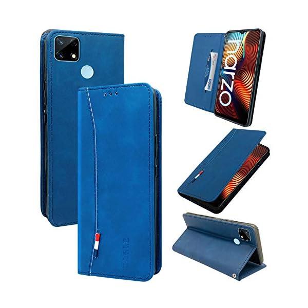 Jkobi Flip Cover for Realme Narzo 30A(Artificial Leather/Blue) 2021 July Compatible devices: Realme Narzo 30A Color: Blue Case Type: Flip Case Cover