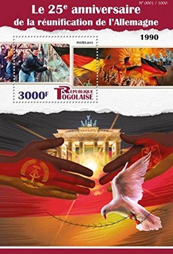 Togo - 2015 Reunification of Germany - Stamp Souvenir Sheet - - Germany Usps