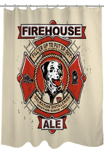 One Bella Casa Firehouse Ale Shower Curtain, 71 by 74-Inch