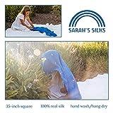 Sarah's Silks - Enchanted Playsilk, 100% Real Silk, Eco-Friendly Dye, 35-Inch Square Silk Play Scarf - Starry Night