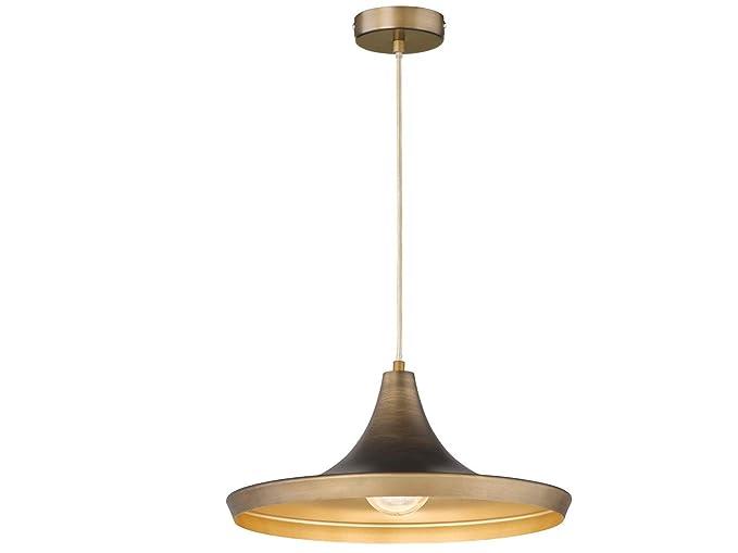 Lampade A Sospensione Vintage : Lampada a sospensione vintage con paralume in metallo Ø cm