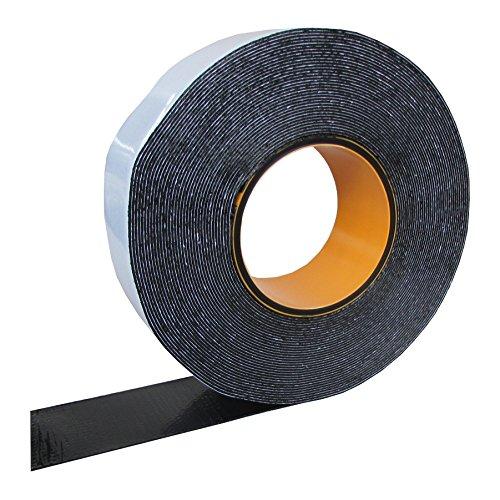 HSF Butylband 30mm x 1mm mit Gelegeeinlage schwarz 15m Rolle Fugendichtband24
