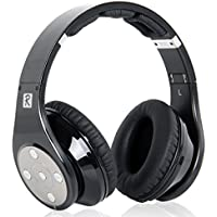 Bluedio R 8 Drivers Bassy Wireless Bluetooth Headphones with Micro SD Card Slot (Black)
