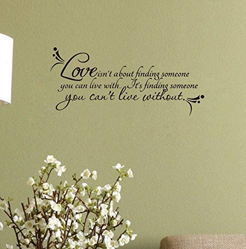Dalxsh Love Wall Quotes Decal Room Decor Love Isn't About Finding. Vinyl Wall Stickers -