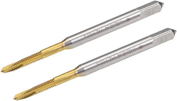 Spiral Point Threading Tap M2 Thread 0.4 Pitch Titanium Coated HSS 2pcs