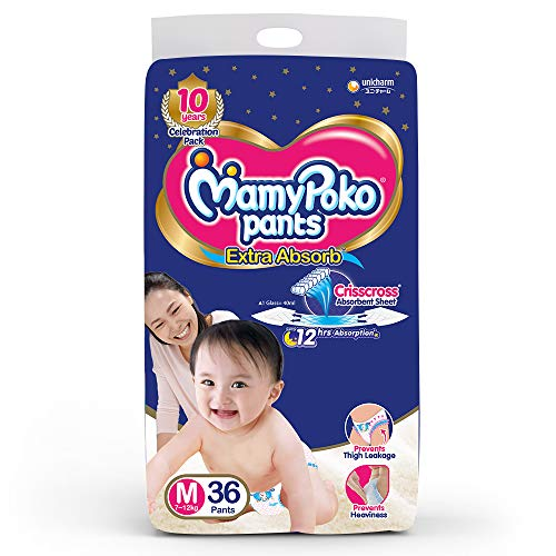 MamyPoko Pants Extra Absorb Diaper Medium M Size 36 Pieces