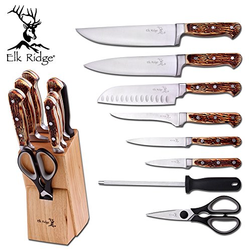 9 Piece Block Knife Set by Elk Ridge