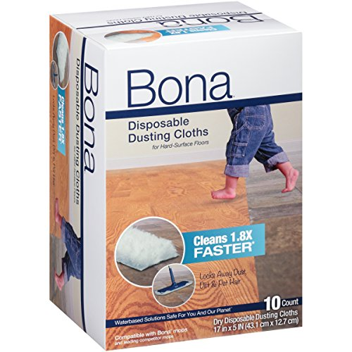 Bona Multi-Surface Floor Disposable Dry Cleaning Pads, 10 Count