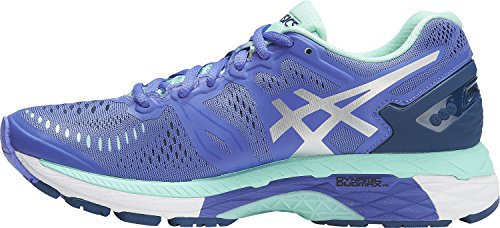 ASICS Womens Gel-Kayano 23 Running Shoe, Purple/Silver/Mint, 10 B(M) US by ASICS
