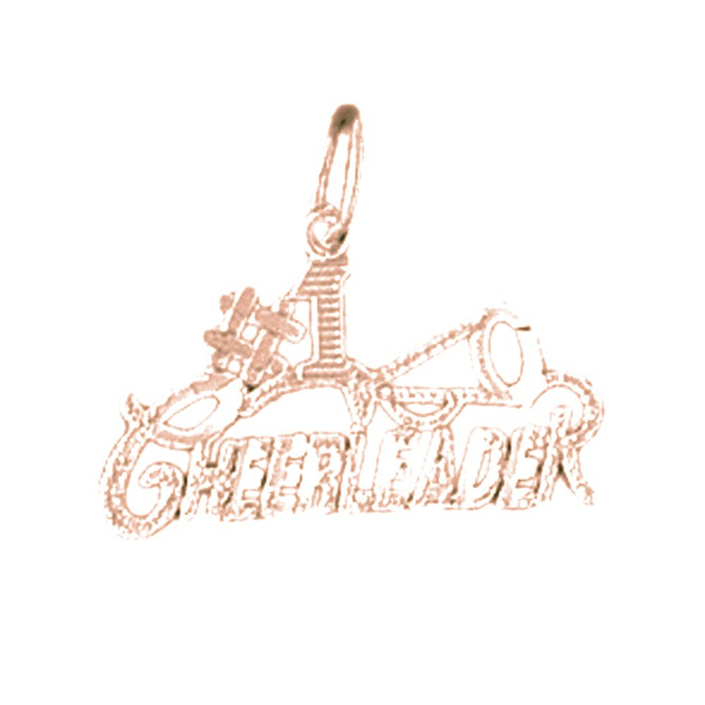14K Rose Gold-plated 925 Silver #1 Cheerleader Pendant with 18 Necklace Jewels Obsession #1 Cheerleader Necklace