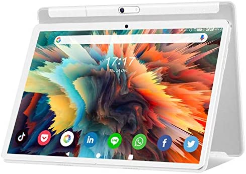 Android 10.0 Tablet 10.1 Inch, Octa-Core 5G WiFi 1920x1200 HD ThouchScreen Large Tablets with 13MP Rear Camera, 6000mAh Battery, 32GB ROM 128GB Expand Storage, Bluetooth/GPS/FM/OTG