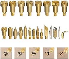 39PCS Pirograbador de madera GOCHANGE Profesional Pyrography Kit con 28 Piezas Puntas de Lat/ón Intercambiables//para Trabajo de la Madera,Cuero,Corcho