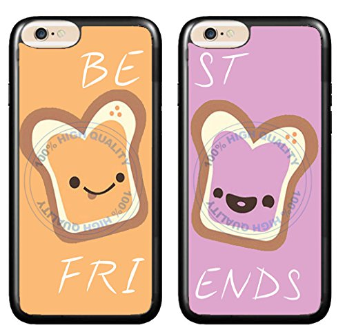 BleuReign(TM) Set Of 2 BFF Peanut Butter And Jelly TPU RUBBER SILICONE Phone Case Back Cover For Apple iPhone 8 and iPhone 7