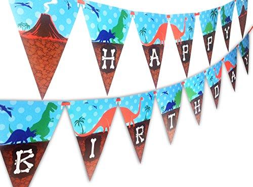 Dinosaur Happy Birthday Banner Pennant -