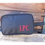 Personalized Monogrammed Black Dopp Travel Kit Toiletry Bag- Valentines Gift for Husband Him
