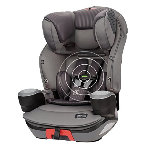 Evenflo Safemax 3-in-1 Combination Booster Car Seat with SensorSafe, Charcoal Fizz