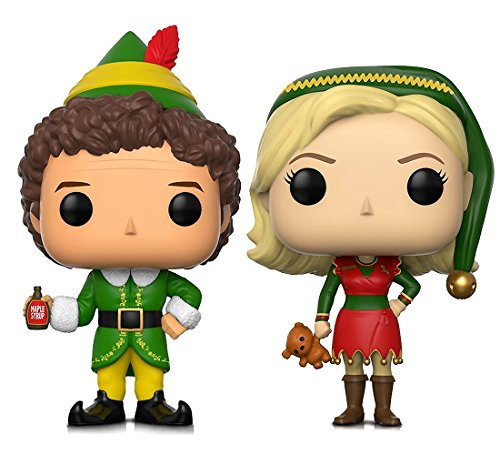 Funko Pop Movies Elf Buddy and Jovie Elf Outfit Action Figures Toys (2 Items included)]()