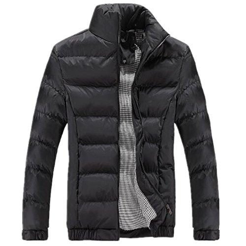 Männer - Mode aus ausgestopften Kleidern, Herbst und Winter Kleidung, männer aus Baumwolle Mantel,schwarz,XXXL