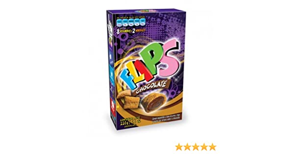 Amazon.com : FLIPS, expanded cereal with rice, wheat and oats filled with the most delicious Chocolate. 2 Packs of 220 g each. : Everything Else