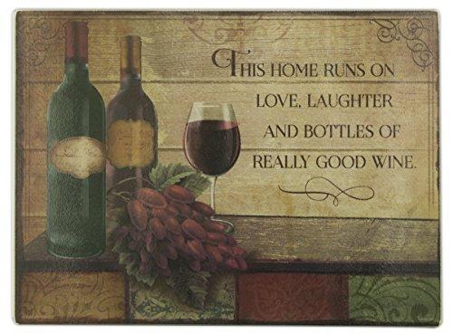 Abbey Gift Wine Cutting Board (Cutting Board Glass Wine)
