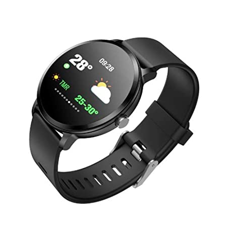 FEIFEIJ - Smartwatch 1.3 OLED Pantalla Android Wear 2.0,Compatible con Apple iPhone, Samsung, Huawei, Sony (Negro)