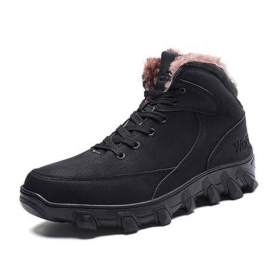 d2f6e33a984ad PAMRAY Bottes Homme Chaussures d hiver Neige Bottines Chaudes Fur  Imperméable Boots Tactique Militaire Sécurité