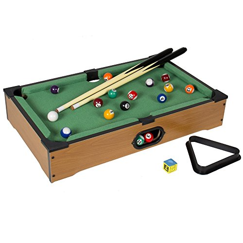 Angelwing Game Billiards Mini Table Pool Board Accessories Tabletop Toy Sports (Standing Table Game Foosball)
