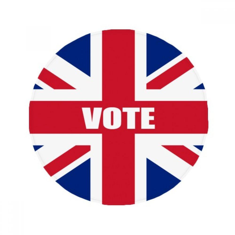 60X60cm DIYthinker Britain UK Flag Vote for General Election Anti-Slip Floor Pet Mat Round Bathroom Living Room Kitchen Door 60 50Cm Gift