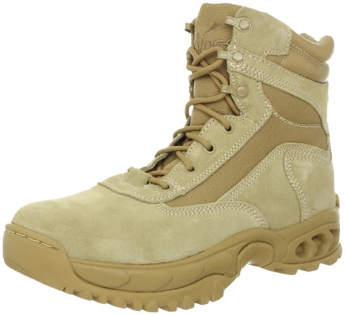 Desert Leather Footwear - Ridge Footwear Men's Desert Storm Zipper Tactical Leather Boot, Sand, 11.5