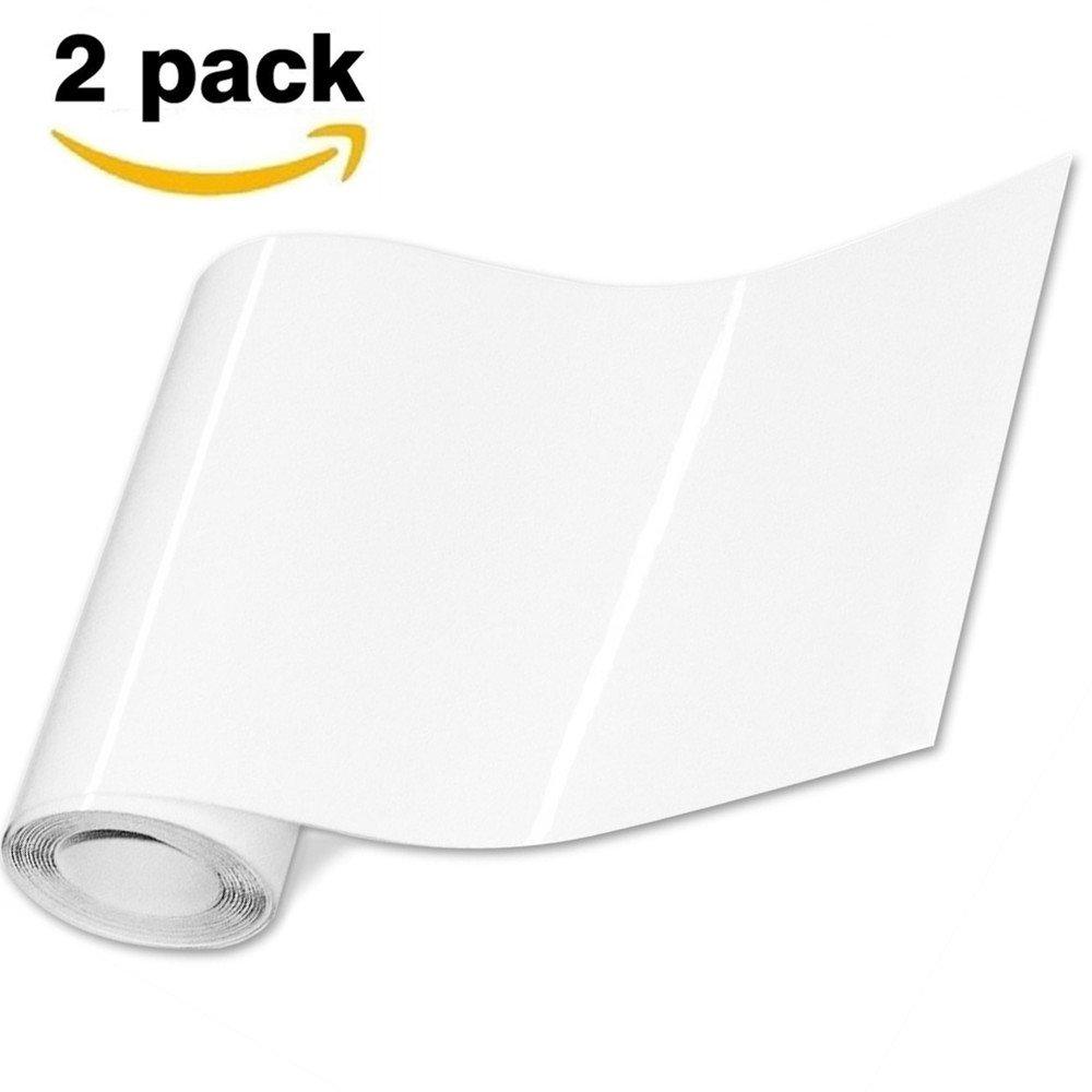 Lackschutzfolie (2 pack) 200 x 20 cm, Minleer Auto Lack Schutz Folie Transparent Universal Lackschutzfolie