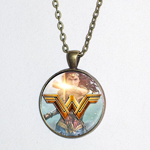 Amazonian Warrior Princess Costume (Wonder Woman 2017 movie design - pendant necklace - HM)
