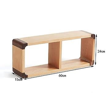 WALL RACKS Wandregale / Modern Minimalist Massivholz Wand Schlafzimmer Wohnzimmer  Regale. ( Größe : 2